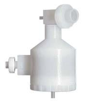 Tracey PFA44 Spray Chamber with Aux Port, ScrewLok & Helix CT, 44ml cyclonic, PFA